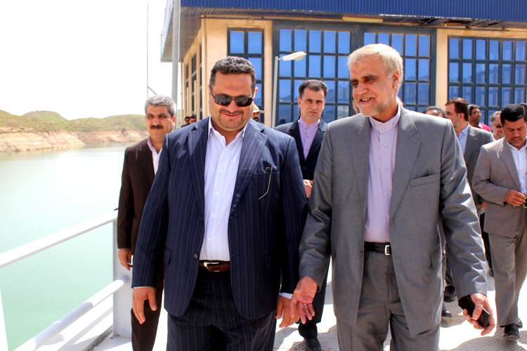 بازدید رئیس نمایندگی وزارت امور خارجه در شمال و شرق کشور از سد دوستی سرخس
