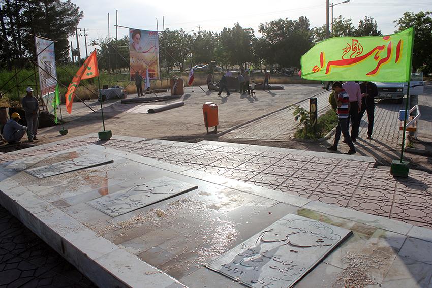 تصاویر/ آغاز اجرای ساخت بزرگ ترین پروژه فرهنگی شهرستان سرخس