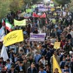گزارش تصویری/ «مرگ بر آمریکا»ی مردم مرزنشین سرخس در یوم الله 13 آبان
