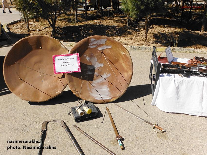 کشف تجهیزات ماهواره ای در سرخس