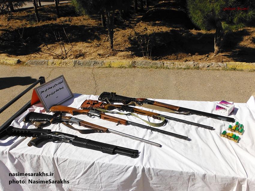 کشف سلاح جنگی و شکاری در سرخس