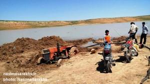 عروس دریاچه های ایران جانی دوباره گرفت/ مردم پای کار آمدند، دریاچه بزنگان سرخس زنده شد