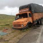 تصادف مرگبار لیفان با کامیون بنز در جاده سرخس+تصاویر