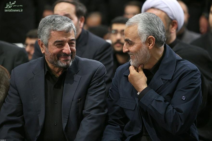 خوش و بش سرلشکر سلیمانی با فرمانده کل سپاه در بیت رهبری +عکس