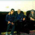 سردارسلیمانی درمنزل شهید ناصری+تصاویر