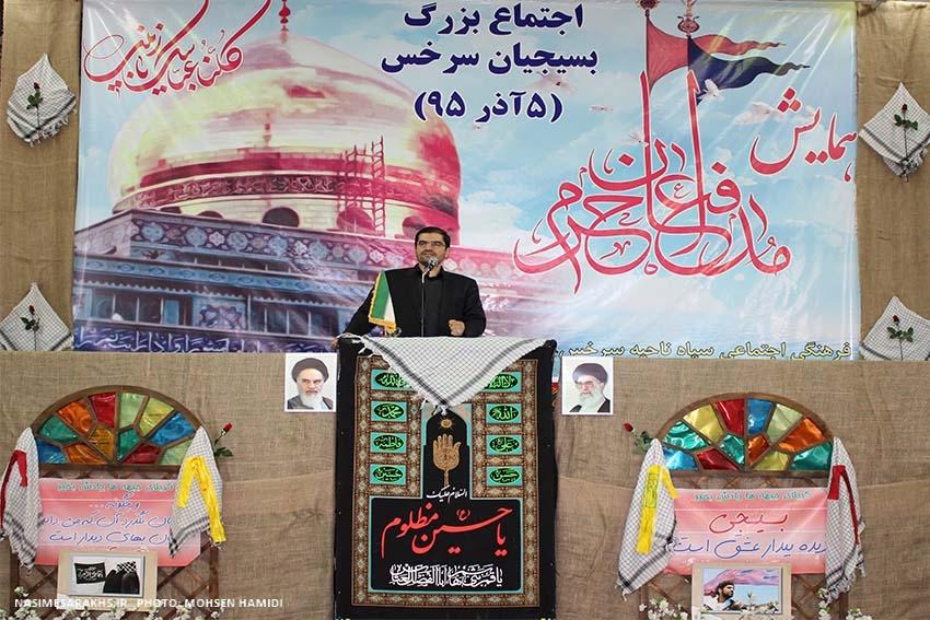 اجتماع بزرگ مدافعان حرم در سرخس برگزار شد+ تصاویر