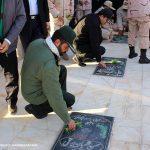 مزار شهدای شهرستان سرخس گلباران شد+ تصاویر