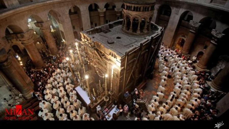 قبر عیسی مسیح(ع) گشوده شد +تصاویر