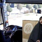گفتوگو با نخستین راننده زن اتوبوس در غرب کشور+ عکس