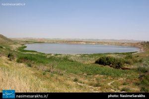 «دریاچه بزنگان» جاذبه طبیعی سرخس+ تصاویر