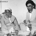 عکس ناب از رهبر انقلاب در کنار پدر