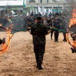 تصاویر/ قدرتنمایی نوجوانان مسلح حماس