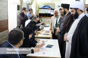 آغاز حماسه حضور/ مردم شهرستان سرخس پای صندوقهای رأی آمدند+ تصاویر