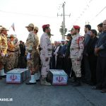 مراسم استقبال از دو شهید گمنام در شهر مزداوند (۵)