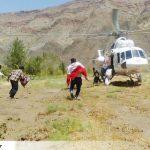 نجات ۹ نفر از سیلزدگان روستای معدن آقدربند سرخس توسط امداد هوایی+ تصاویر