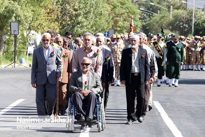 مراسم رژه نیروهای مسلح شهرستان سرخس