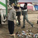 خدمت رسانی گروه جهادی سپاه سرخس در روستای زلزله زده زراعی سرپل ذهاب (۱۳)