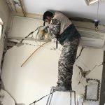 خدمت رسانی گروه جهادی سپاه سرخس در روستای زلزله زده زراعی سرپل ذهاب (۱۴)