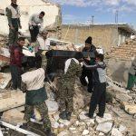 خدمت رسانی گروه جهادی سپاه سرخس در روستای زلزله زده زراعی سرپل ذهاب (۱۷)