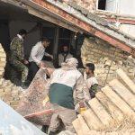 خدمت رسانی گروه جهادی سپاه سرخس در روستای زلزله زده زراعی سرپل ذهاب (۱۸)