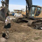 خدمت رسانی گروه جهادی سپاه سرخس در روستای زلزله زده زراعی سرپل ذهاب (۲۰)