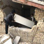 خدمت رسانی گروه جهادی سپاه سرخس در روستای زلزله زده زراعی سرپل ذهاب (۲۲)