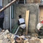 خدمت رسانی گروه جهادی سپاه سرخس در روستای زلزله زده زراعی سرپل ذهاب (۷)
