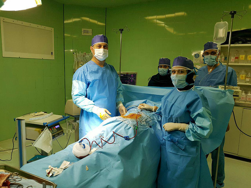 اولین عمل جراحی «دیسک کمر» در بیمارستان سرخس با موفقیت انجام شد