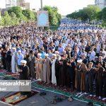 تصاویر اقامه نماز عید فطر در سرخس (۱)