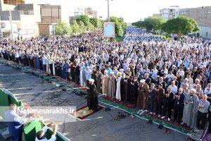 گزارش تصویری/ اقامه نماز عید فطر در سرخس