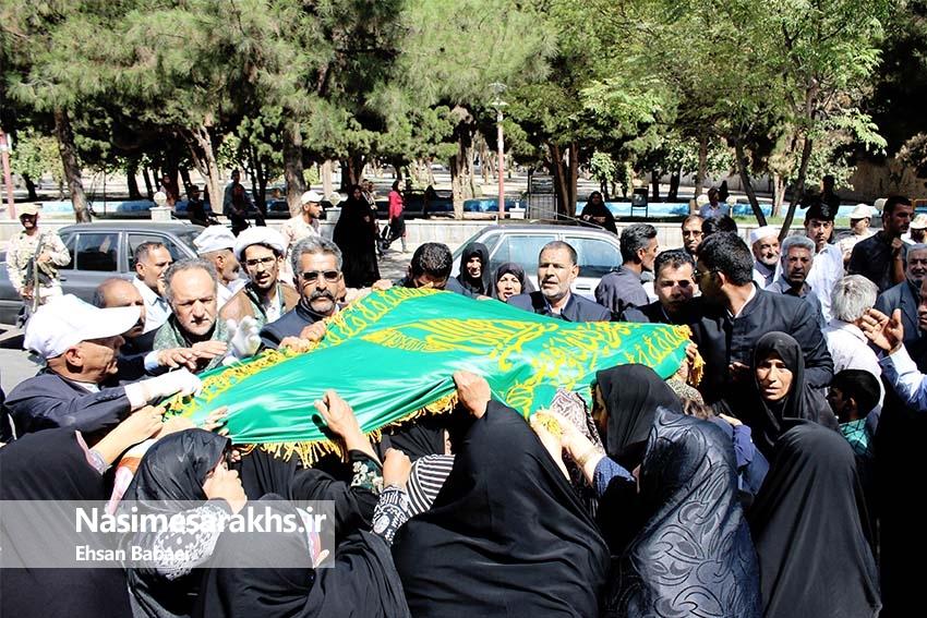 کاروان نمادین امام رضا (ع) وارد سرخس شد+ تصاویر
