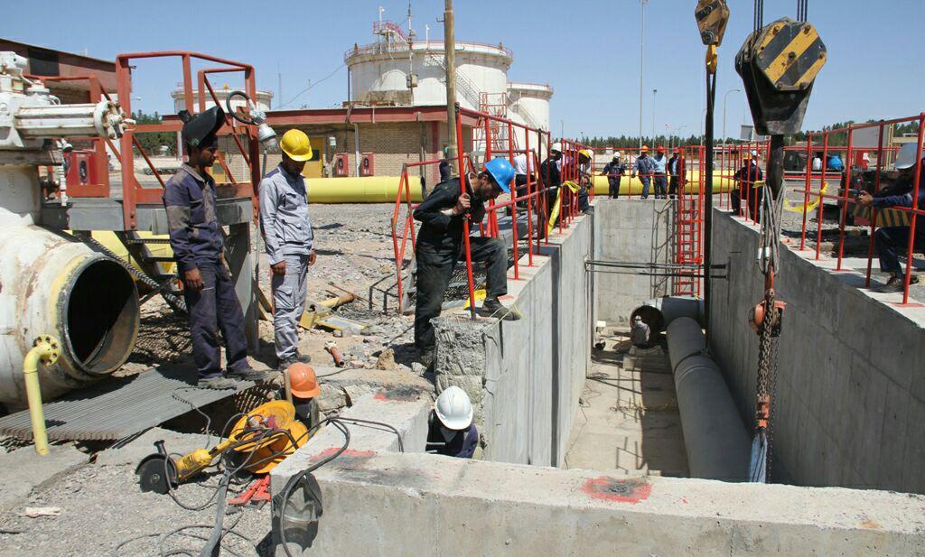 تعویض خط ۳۶ اینچ پالایشگاه سرخس در واحد اندازه گیری گاز خروجی