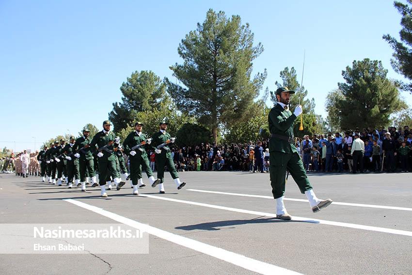 مراسم رژه نیروهای مسلح شهرستان سرخس- بخش دوم