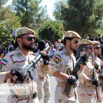 مراسم رژه نیروهای مسلح شهرستان سرخس-بخش دوم- شهریور ۹۷ (۳)