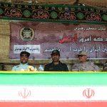 مراسم رژه نیروهای مسلح شهرستان سرخس- شهریور ۹۷ (۱)