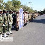 مراسم رژه نیروهای مسلح شهرستان سرخس- شهریور ۹۷ (۲)