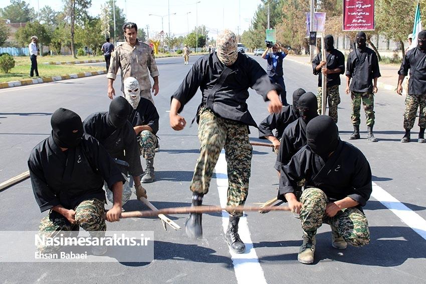 مراسم رژه نیروهای مسلح شهرستان سرخس- بخش اول