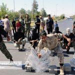 مراسم رژه نیروهای مسلح شهرستان سرخس- شهریور ۹۷ (۸)