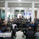 مراسم جشن آغاز هفته وحدت در شهرستان سرخس (۴)