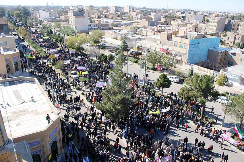فریاد «استکبارستیزی» ملت ایران در کیان مرزنشینان غیور