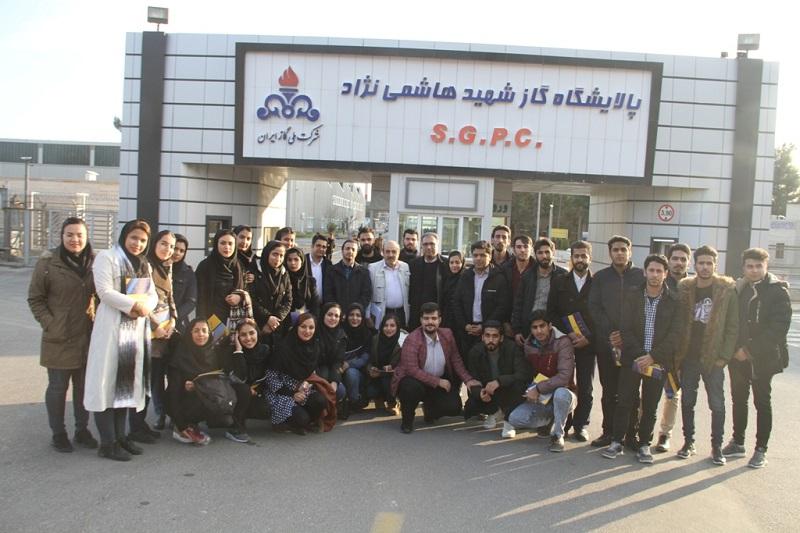 بازدید دانشجویان دانشگاه بجنورد از واحدهای عملیاتی پالایشگاه سرخس