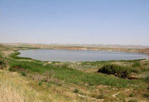کاهش پهنه آبی دریاچه بزنگان سرخس