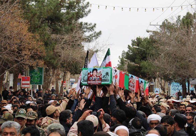 تشییع پیکر شهید دفاع مقدس در شهر مرزی سرخس/ بخش اول
