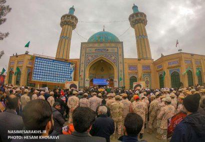ثبت تصاویر دیدنی از راهپیمایی ۲۲ بهمن در سرخس