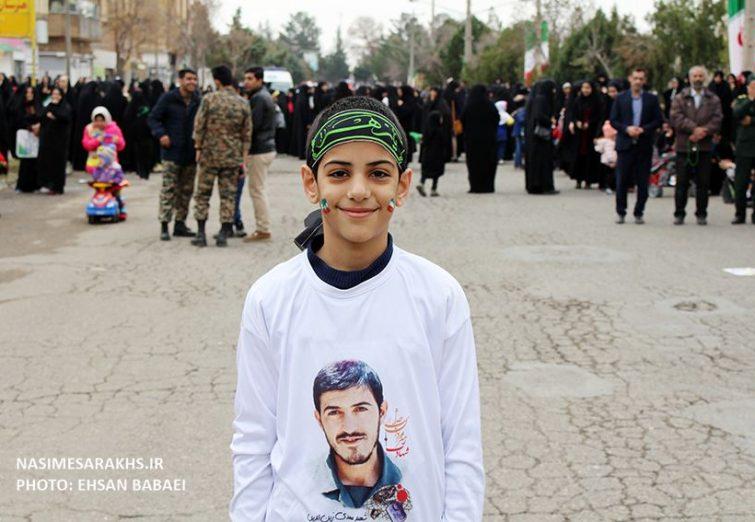 جشن ۴۰ سالگی انقلاب با حضور چند هزار نفری مردم سرخس