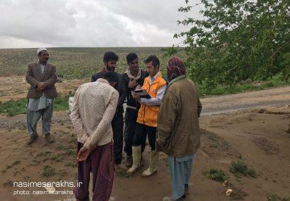 اعزام اکیپ های ارزیابی خسارت دامپزشکی سرخس به روستاهای سیل زده