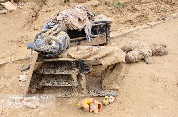 گزارش تصویری؛ خسارات سیل در روستای «چاله زرد» سرخس