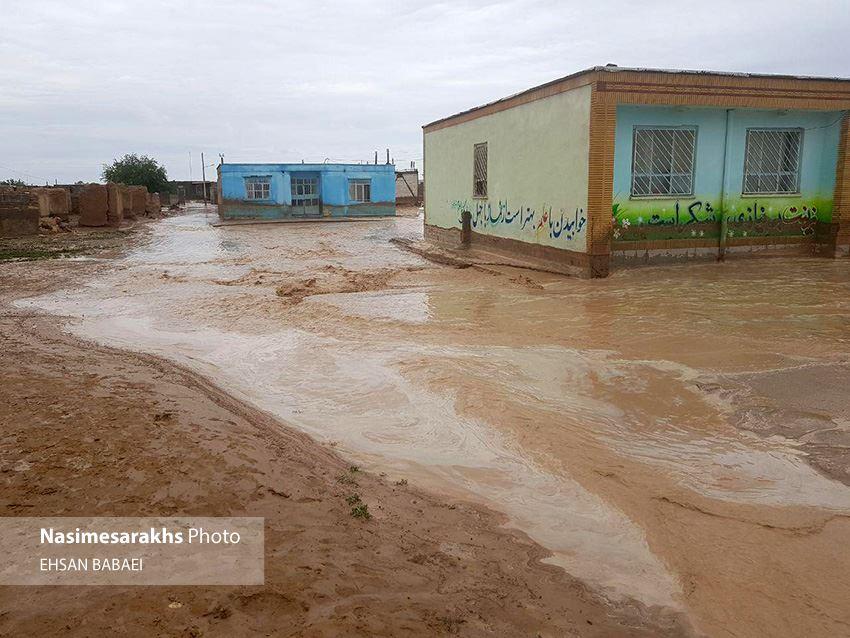 سیلاب به ۱۴۷ خانه روستایی در سرخس خسارت زد/ اولویت اول حفظ جان هموطنان است