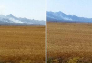 آتش سوزی در ارتفاعات روستای درخت بید سرخس/ ۵ اکیپ برای مهار آتش به محل اعزام شدند