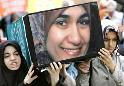 قتل حجاب در دادگاه غرب متمدن